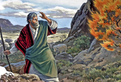 Moses at bush