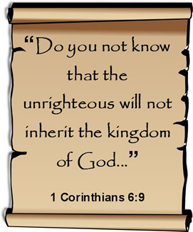 Unrighteous will not inherit