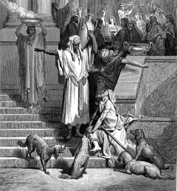 Lazarus at rich man's house